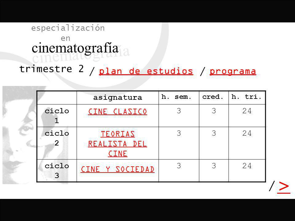 TEORIAS REALISTA DEL CINE