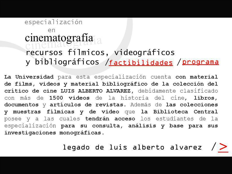recursos fílmicos, videográficos y bibliográficos