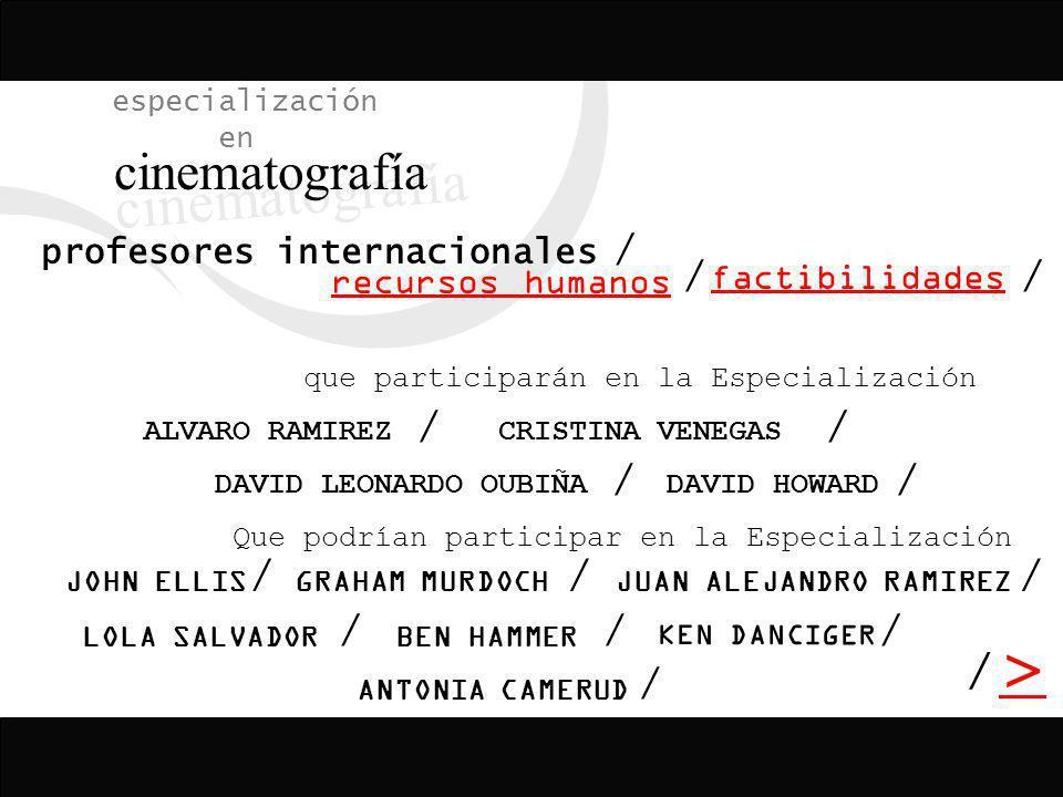 profesores internacionales
