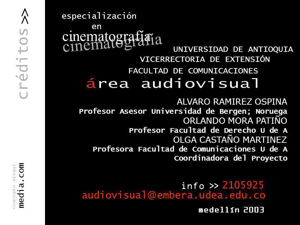 cinematografía > > créditos . especialización en . info >