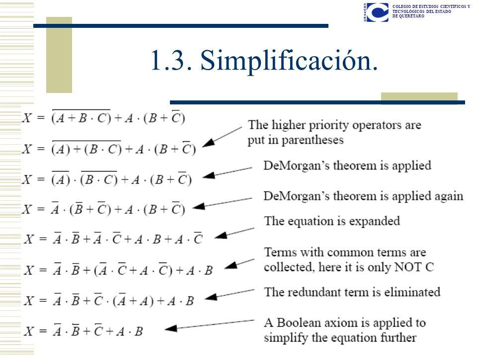 1.3. Simplificación.