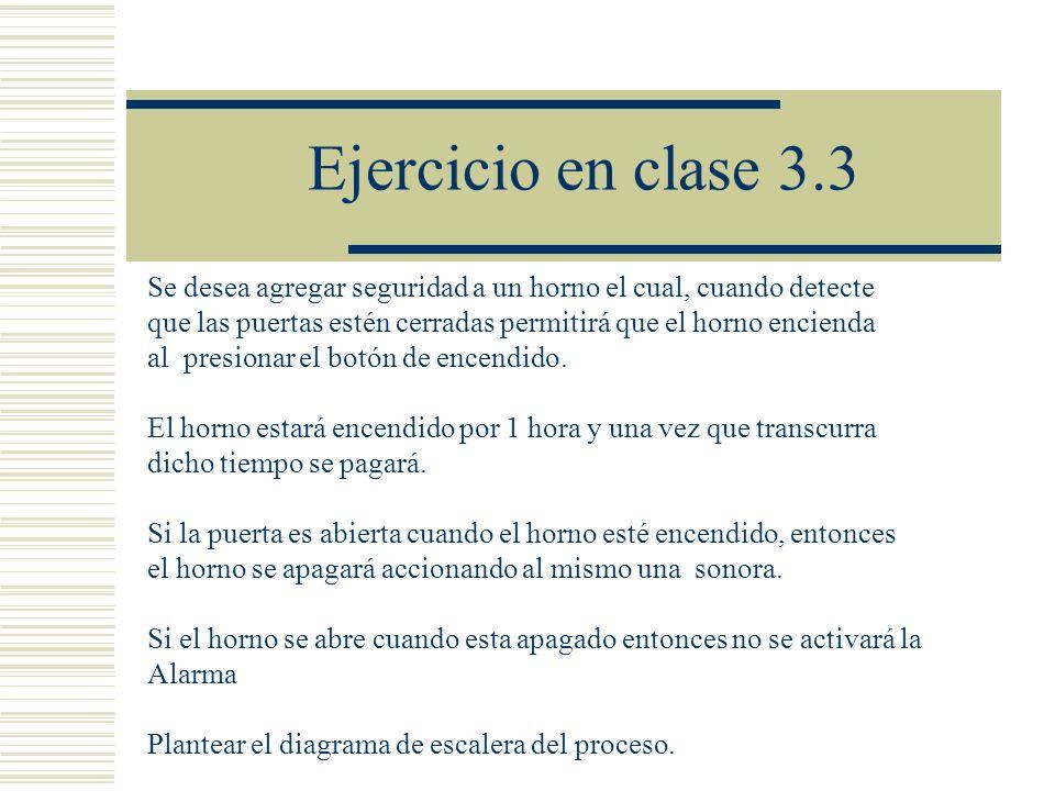 Ejercicio en clase 3.3 Se desea agregar seguridad a un horno el cual, cuando detecte. que las puertas estén cerradas permitirá que el horno encienda.