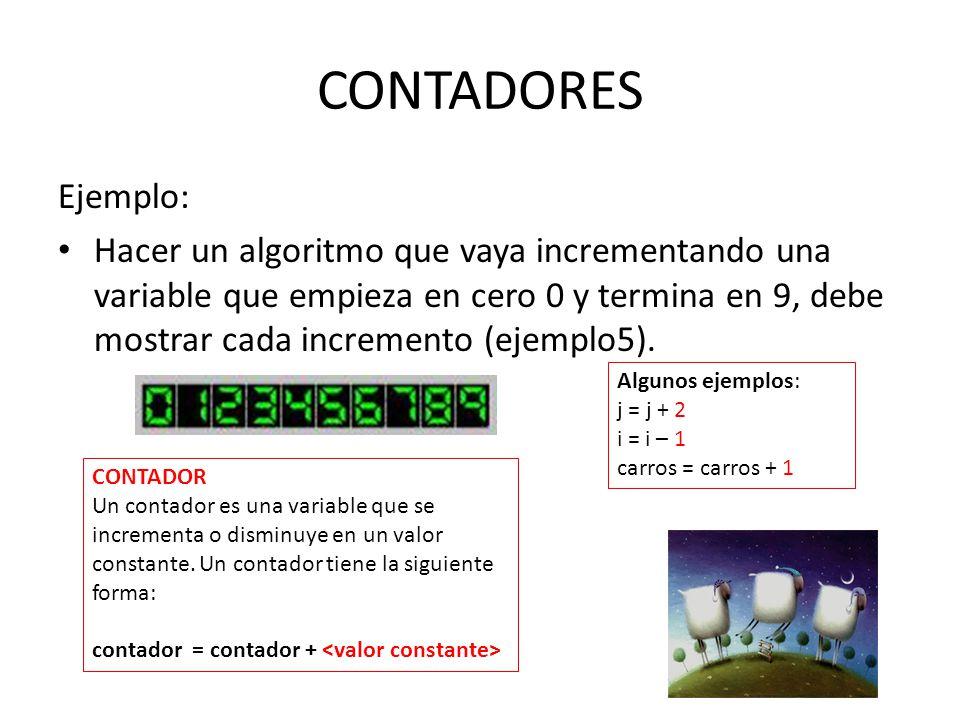 CONTADORES Ejemplo:
