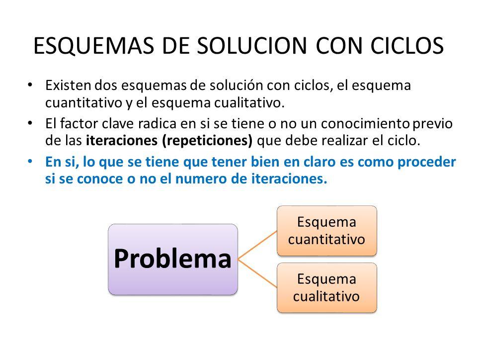 ESQUEMAS DE SOLUCION CON CICLOS