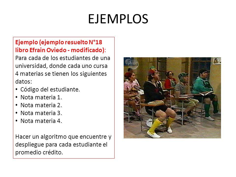 EJEMPLOS Ejemplo (ejemplo resuelto N°18 libro Efrain Oviedo - modificado):