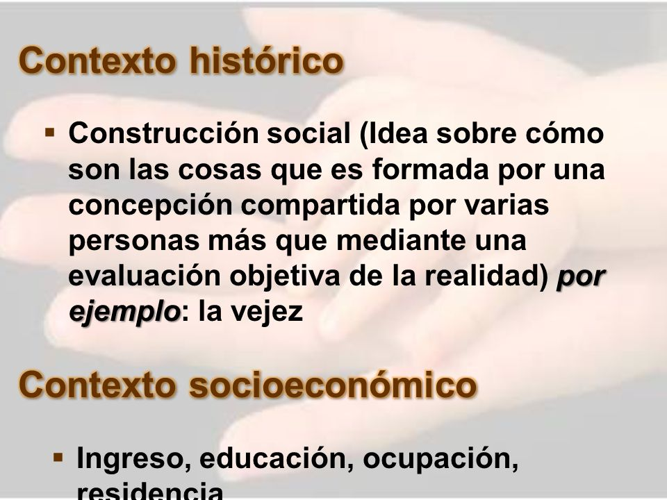 Contexto socioeconómico