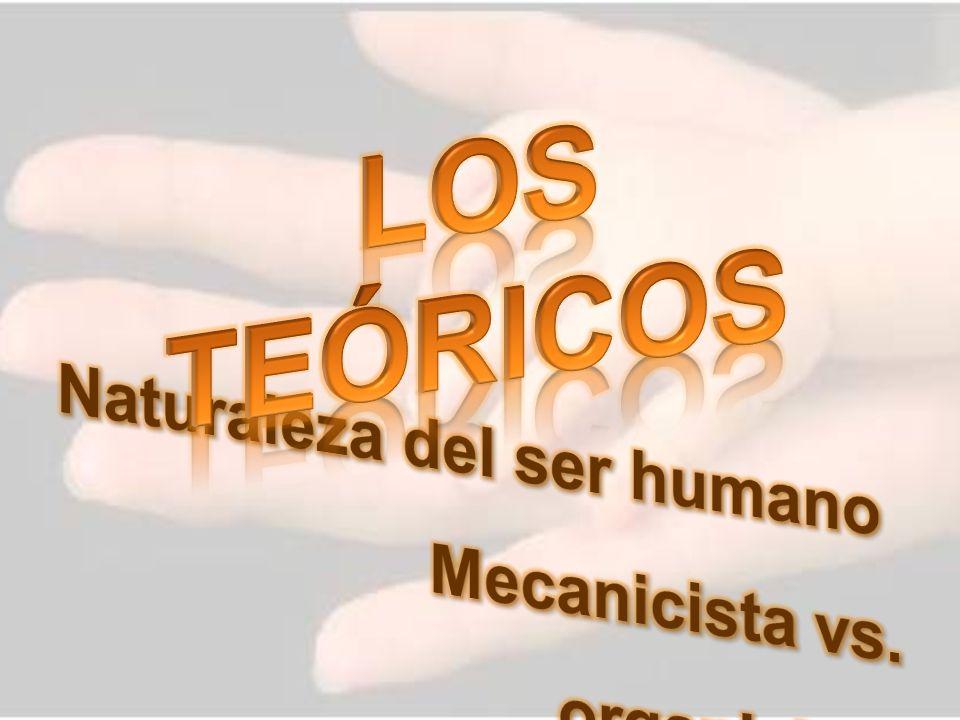 LOS TEÓRICOS Naturaleza del ser humano Mecanicista vs. organicista