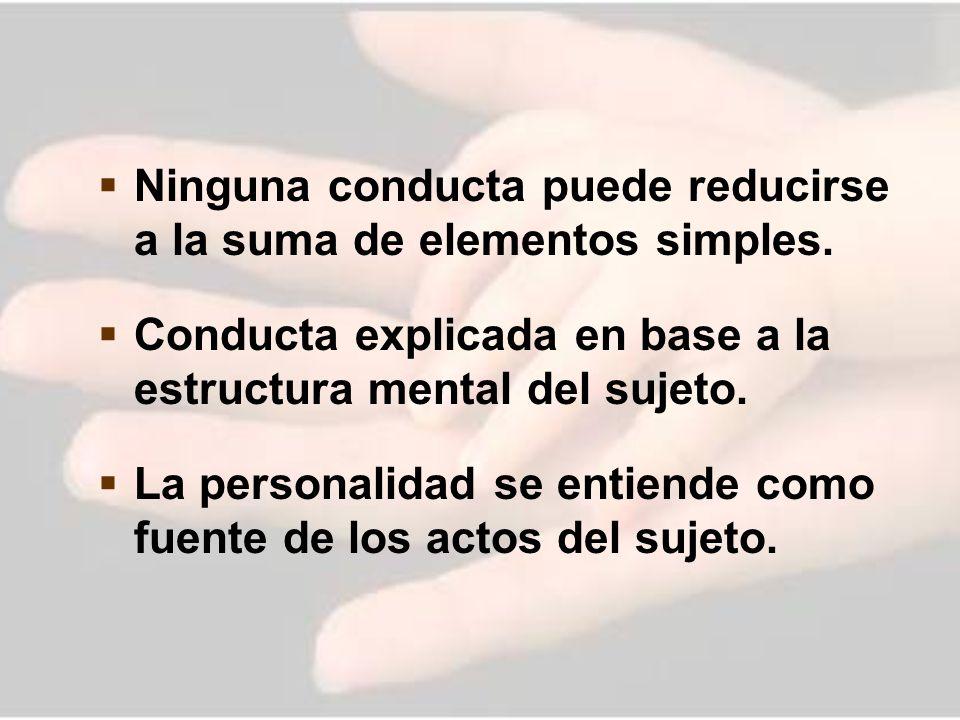 Ninguna conducta puede reducirse a la suma de elementos simples.