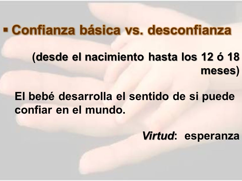 Confianza básica vs. desconfianza