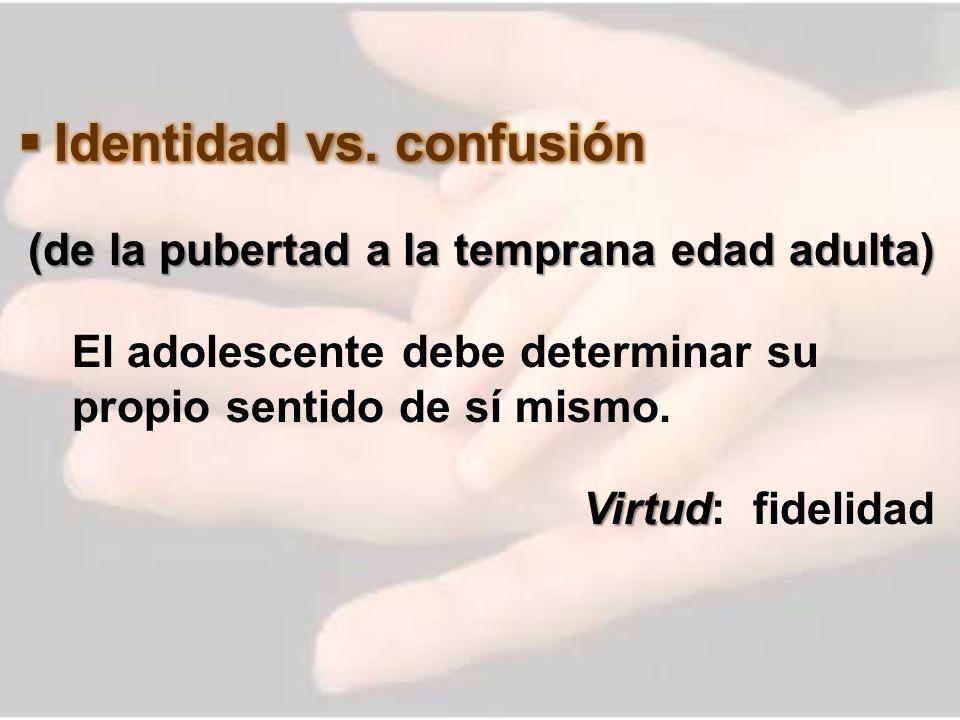 Identidad vs. confusión