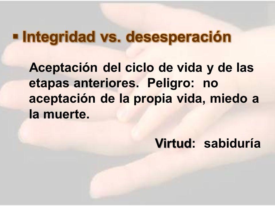 Integridad vs. desesperación