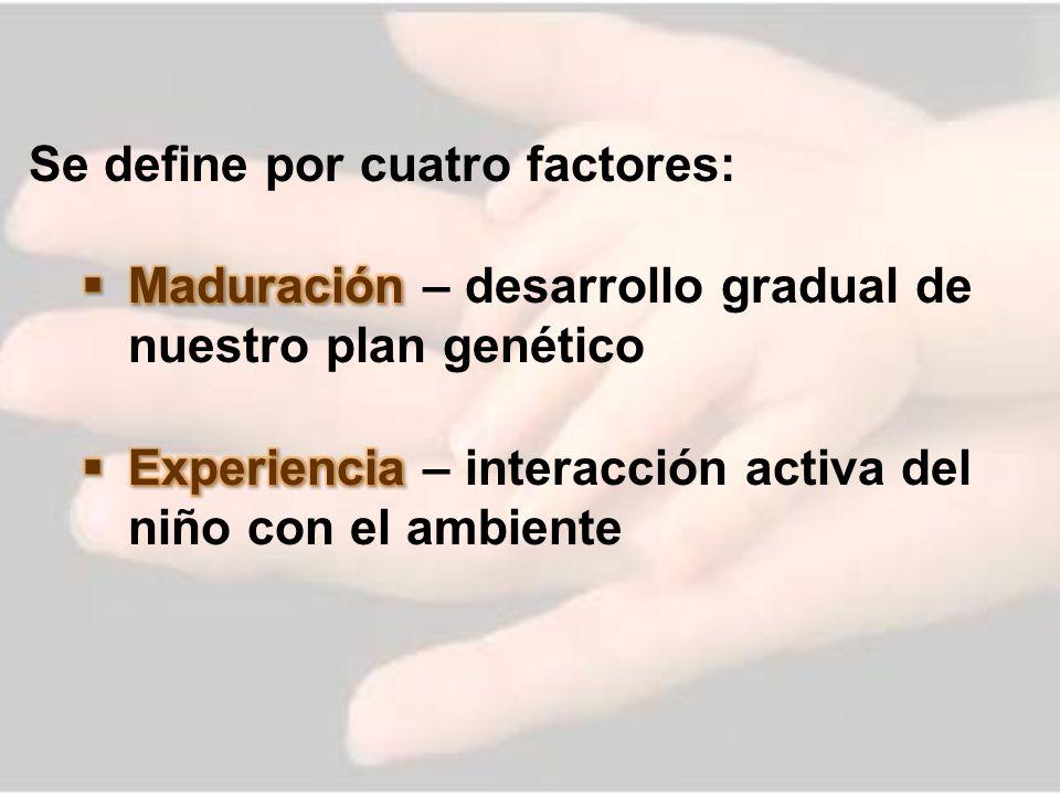 Se define por cuatro factores: