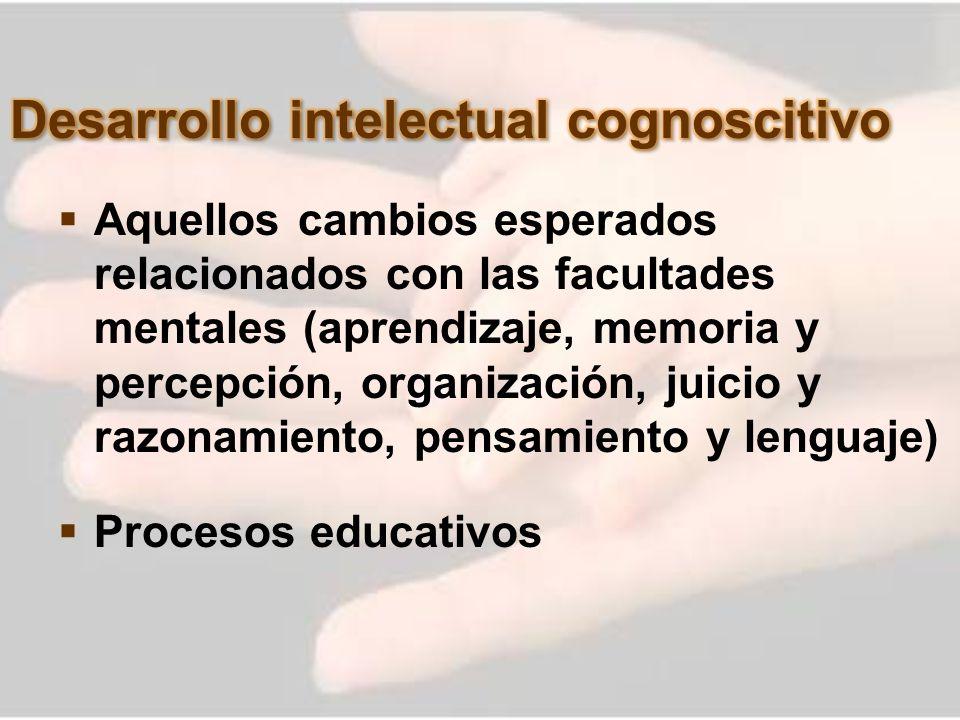 Desarrollo intelectual cognoscitivo