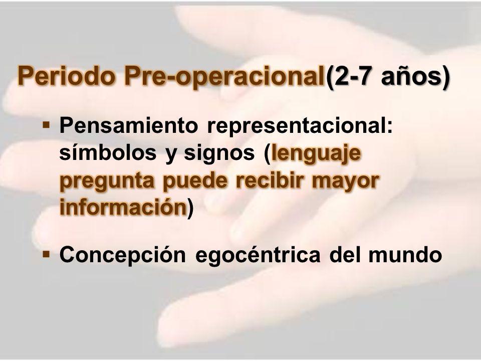 Periodo Pre-operacional (2-7 años)