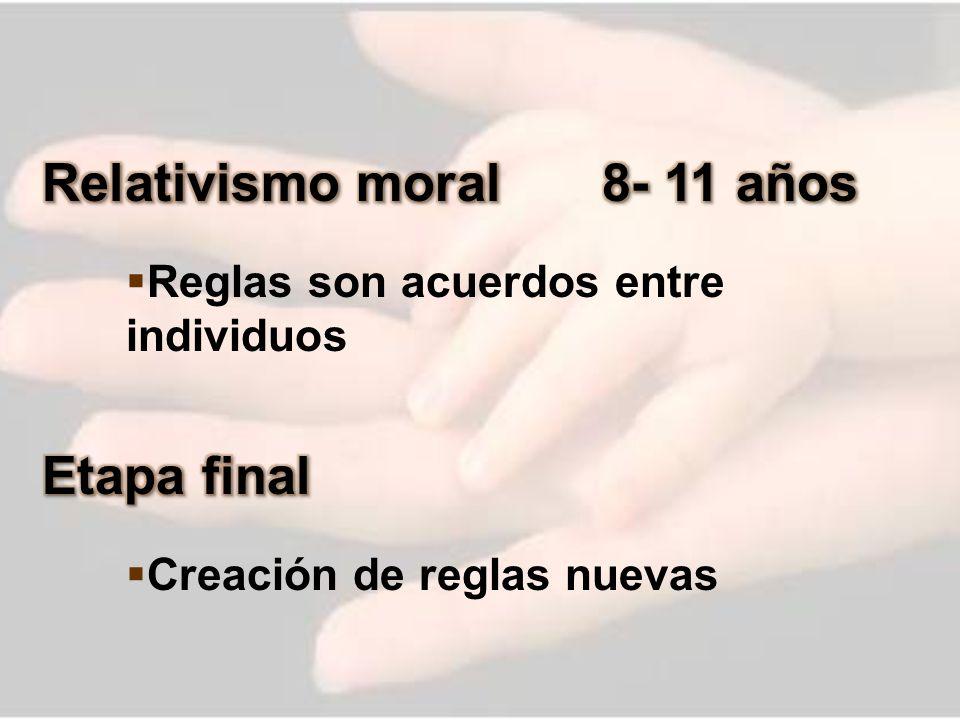 Relativismo moral 8- 11 años