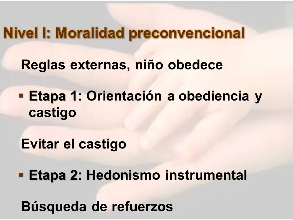 Nivel I: Moralidad preconvencional