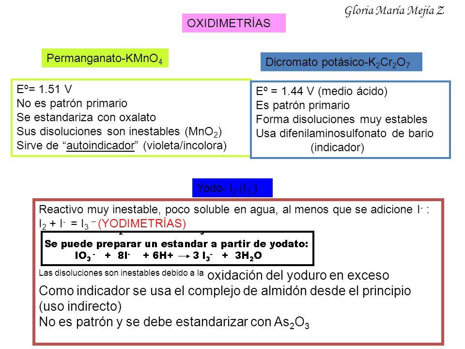 Como indicador se usa el complejo de almidón desde el principio