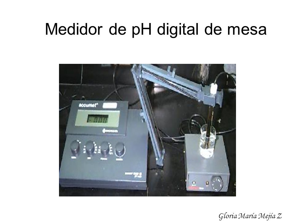 Medidor de pH digital de mesa