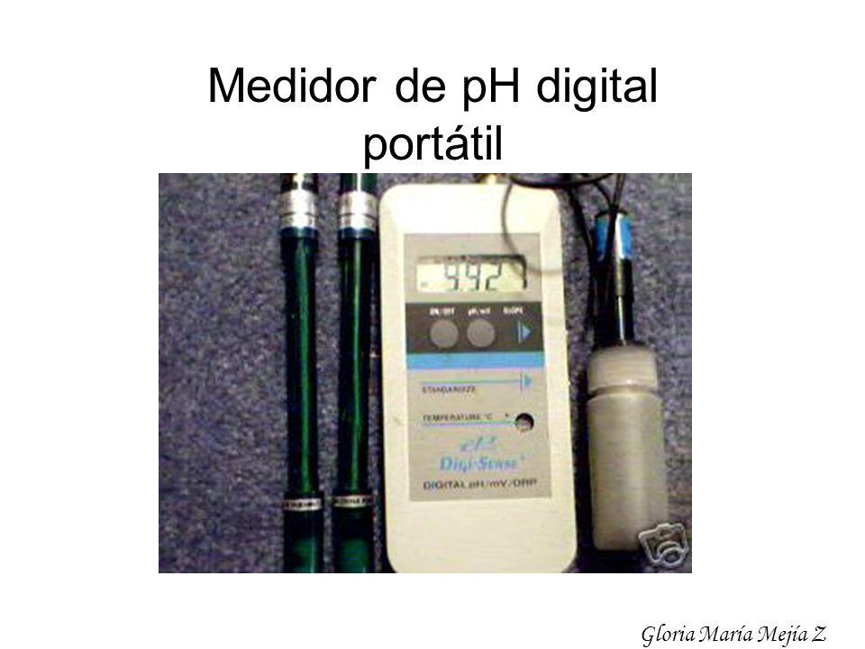 Medidor de pH digital portátil