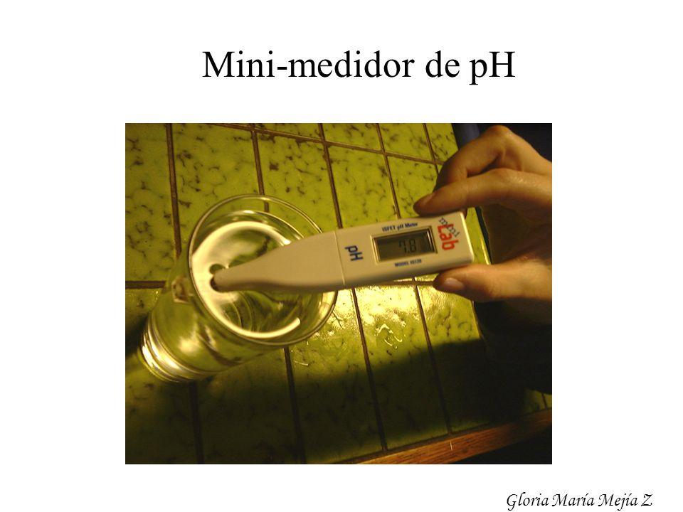 Mini-medidor de pH Gloria María Mejía Z