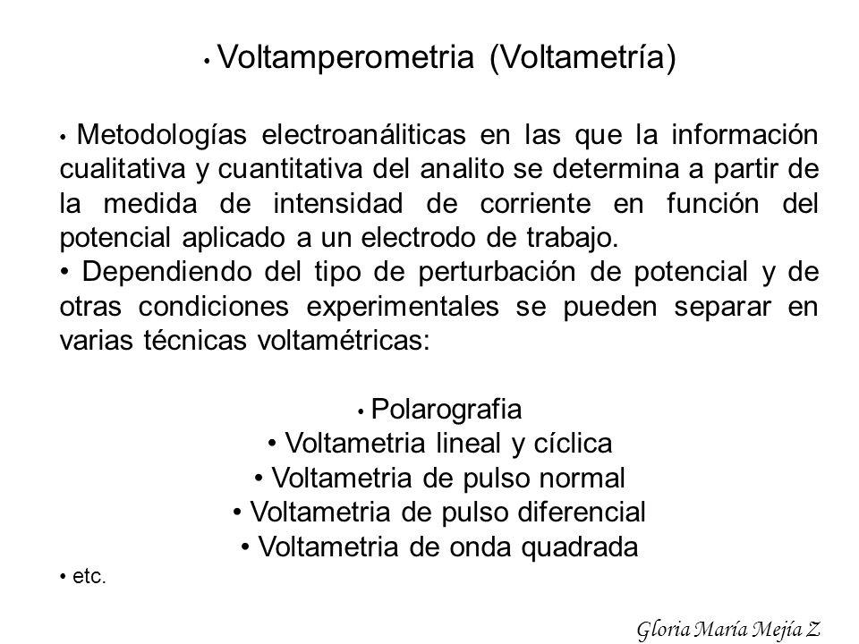 • Voltametria lineal y cíclica • Voltametria de pulso normal