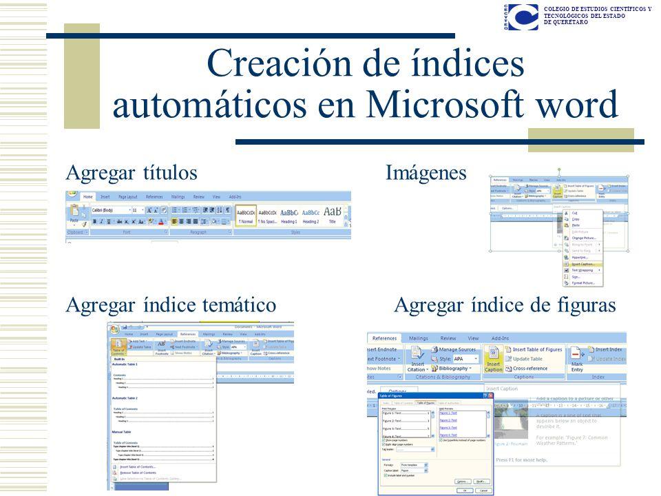 Creación de índices automáticos en Microsoft word