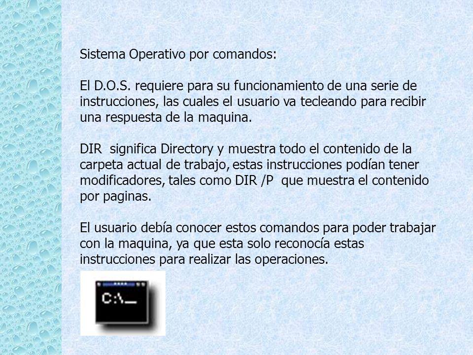 Sistema Operativo por comandos: