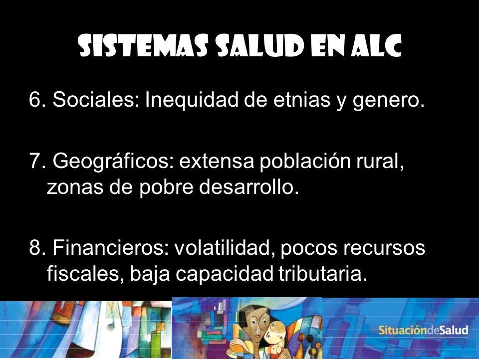 Sistemas Salud en ALC 6. Sociales: Inequidad de etnias y genero.