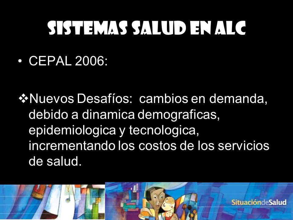 Sistemas Salud en ALC CEPAL 2006: