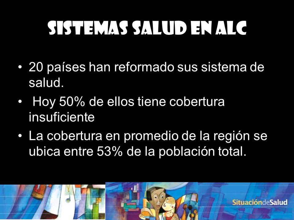 Sistemas Salud en ALC 20 países han reformado sus sistema de salud.