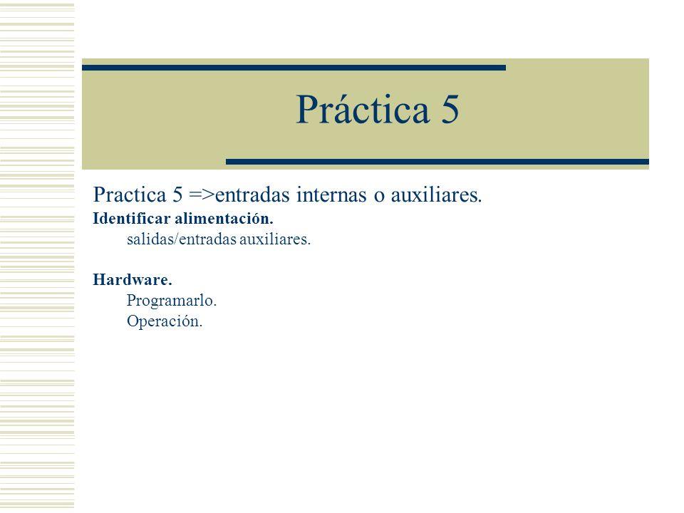 Práctica 5 Practica 5 =>entradas internas o auxiliares.