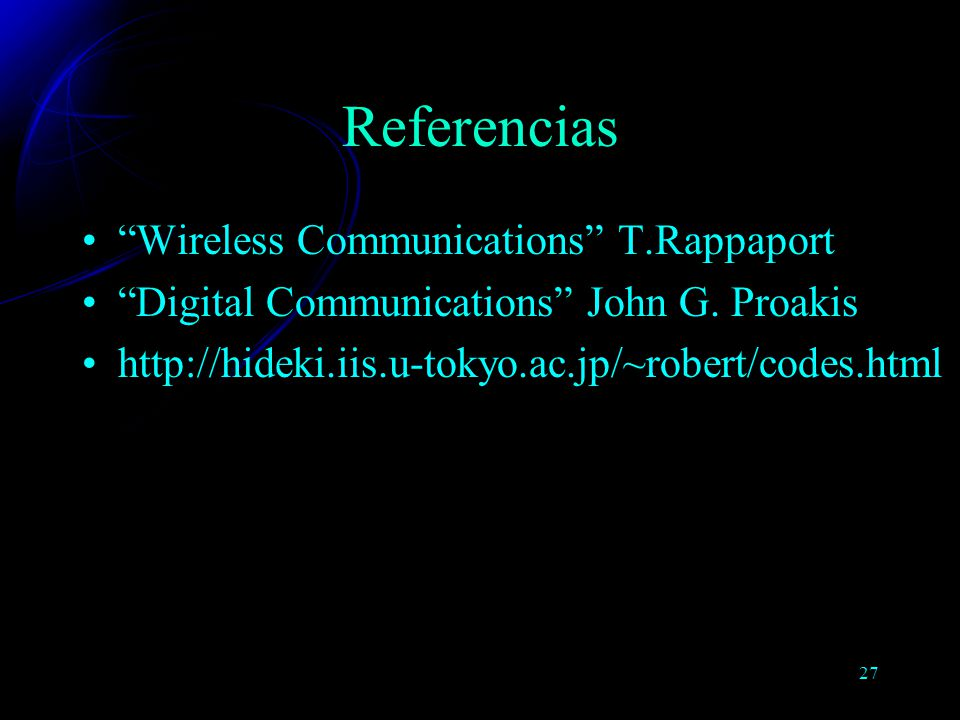 Referencias Wireless Communications T.Rappaport