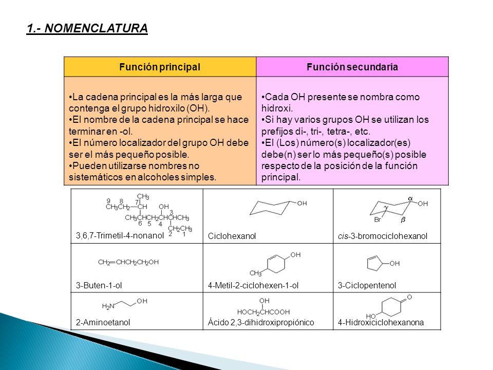 1.- NOMENCLATURA Función principal Función secundaria