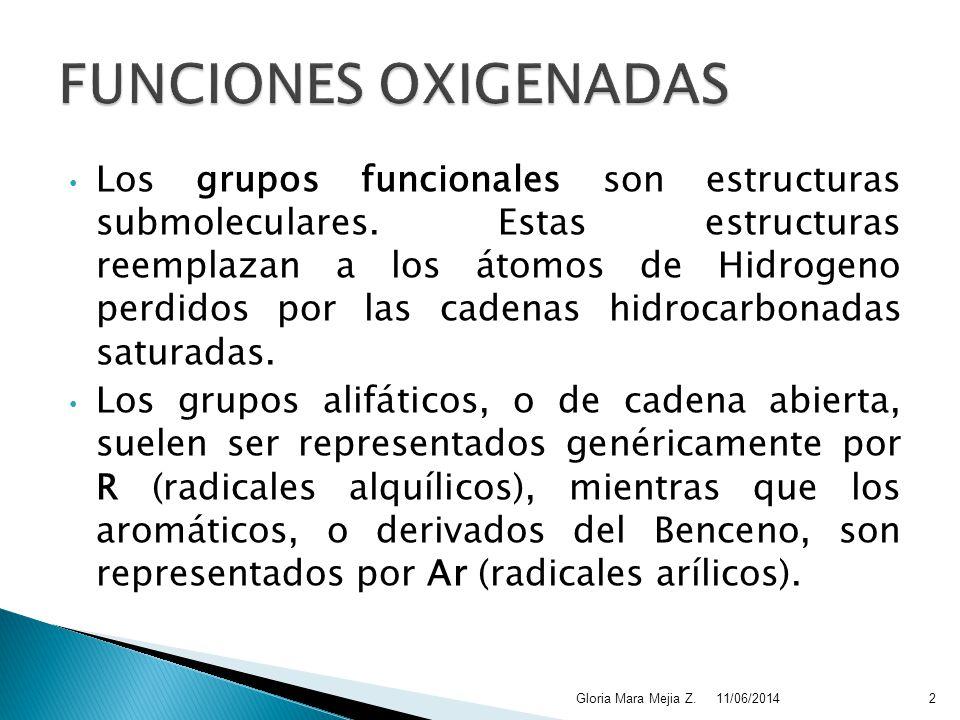 FUNCIONES OXIGENADAS