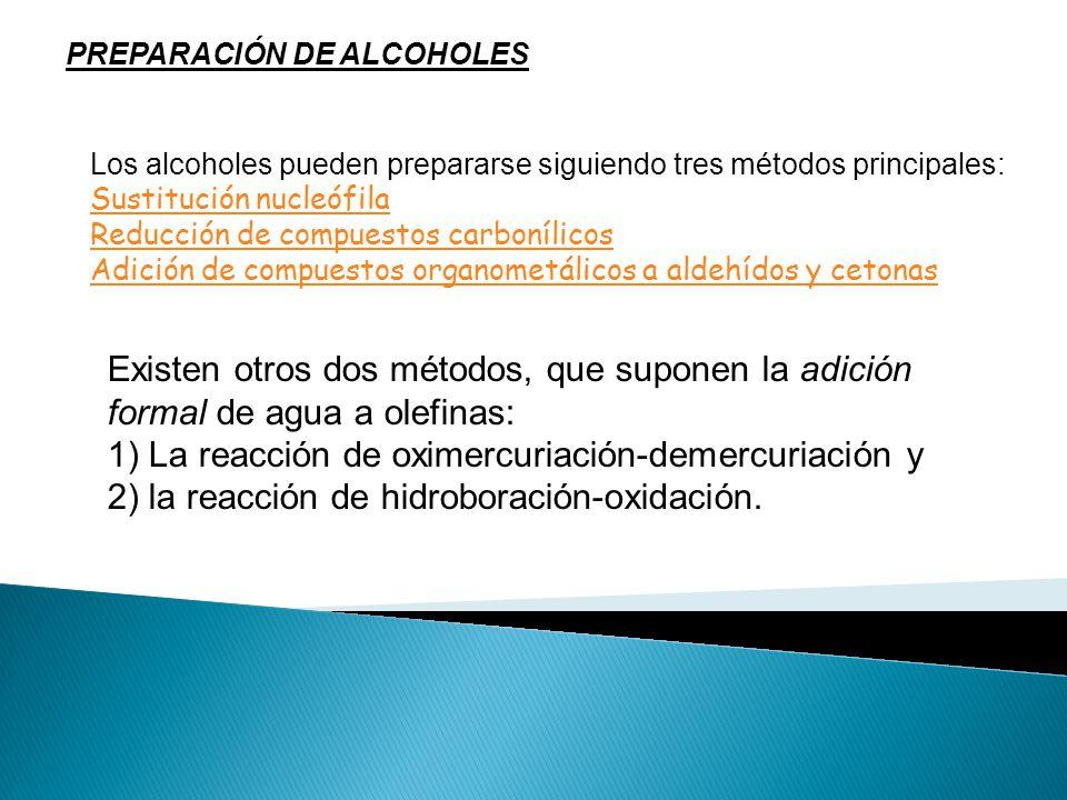 PREPARACIÓN DE ALCOHOLES
