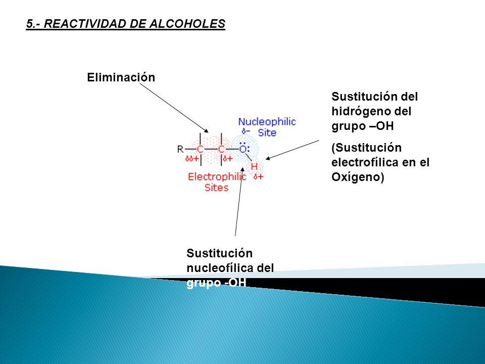 5.- REACTIVIDAD DE ALCOHOLES