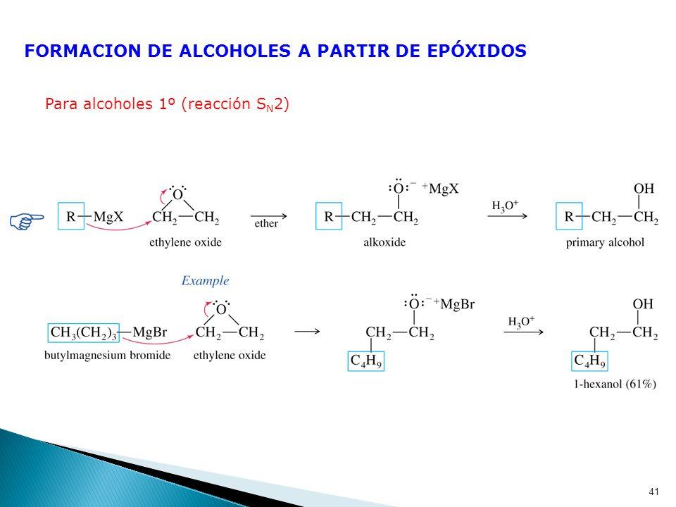 FORMACION DE ALCOHOLES A PARTIR DE EPÓXIDOS