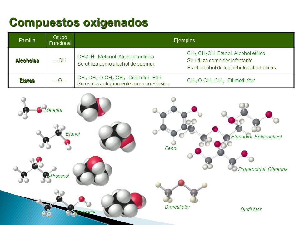 Compuestos oxigenados
