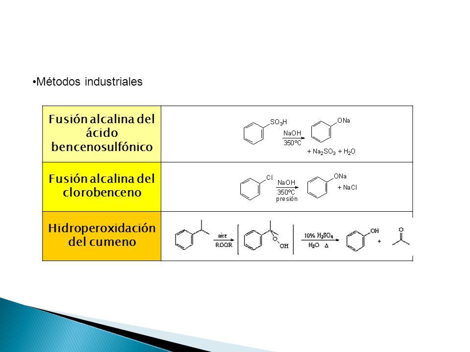 Fusión alcalina del ácido bencenosulfónico