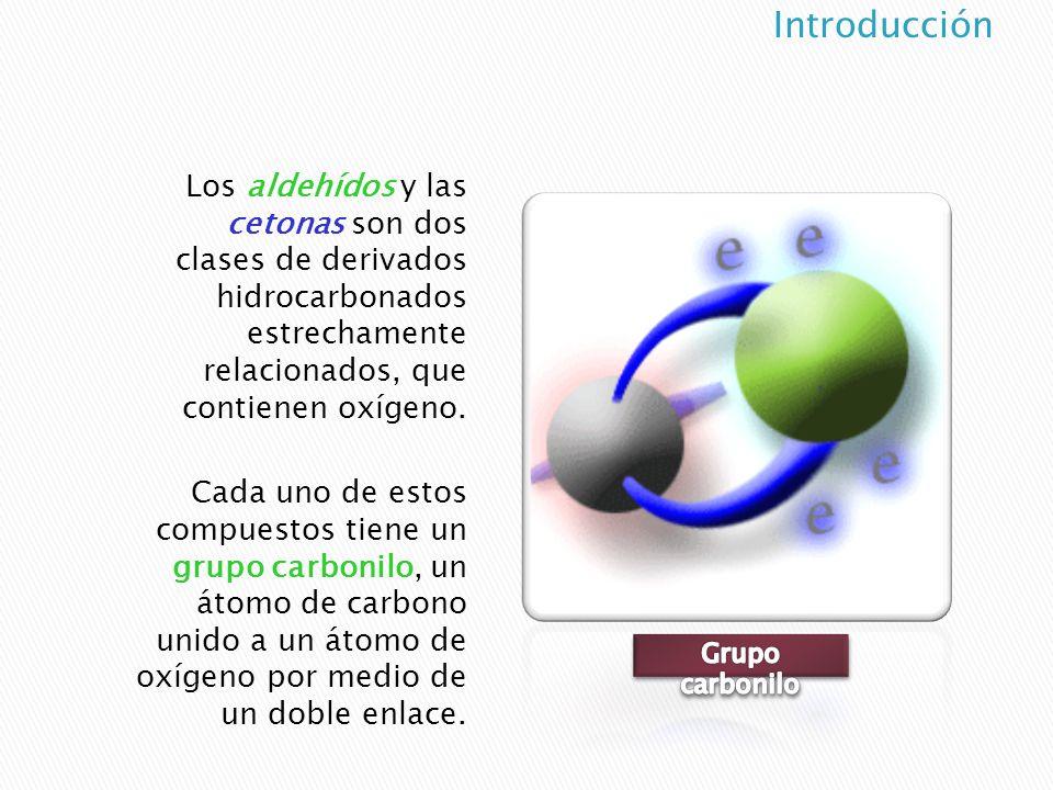 Introducción Los aldehídos y las cetonas son dos clases de derivados hidrocarbonados estrechamente relacionados, que contienen oxígeno.