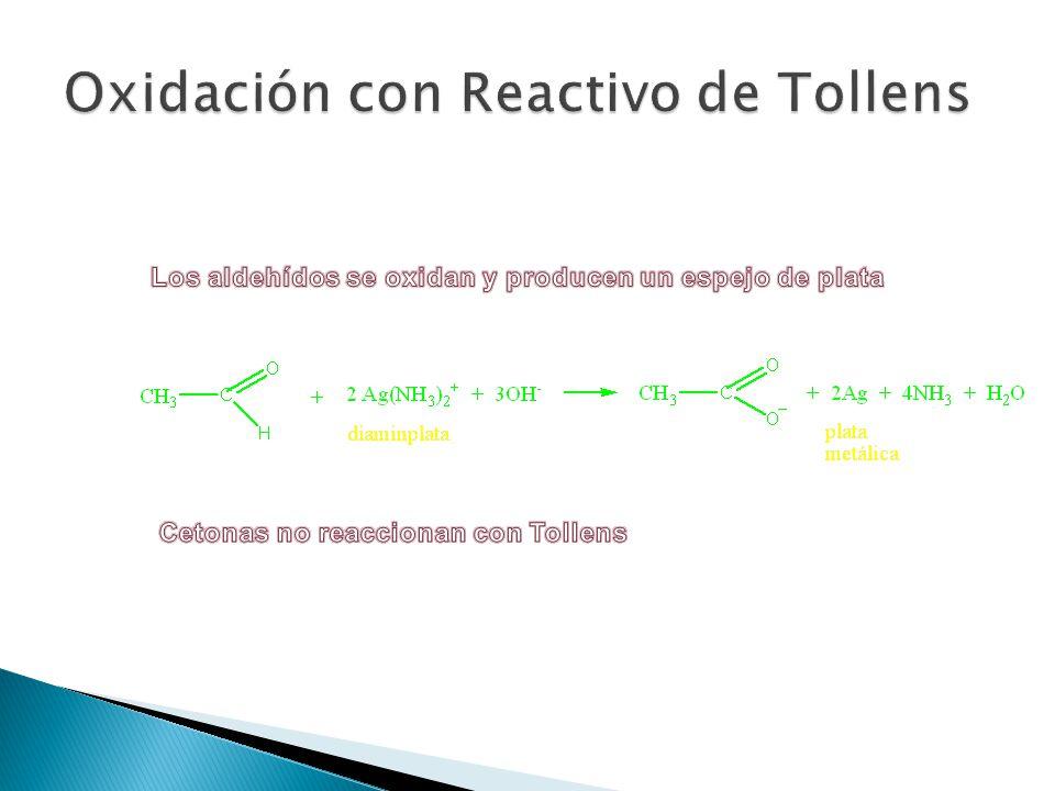 Oxidación con Reactivo de Tollens