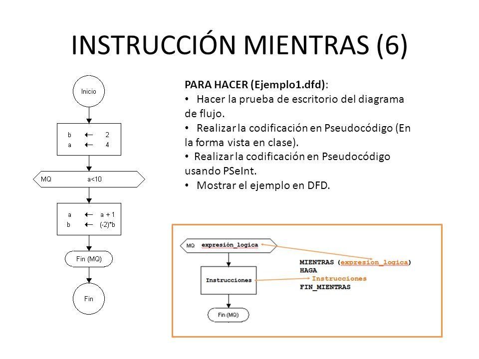 INSTRUCCIÓN MIENTRAS (6)