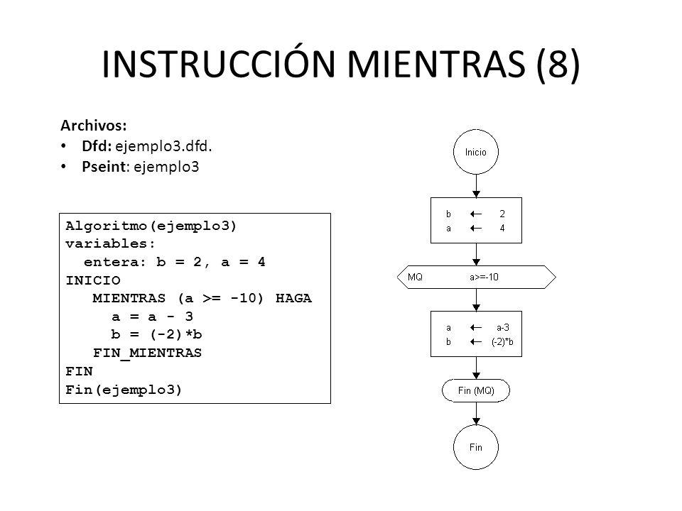 INSTRUCCIÓN MIENTRAS (8)
