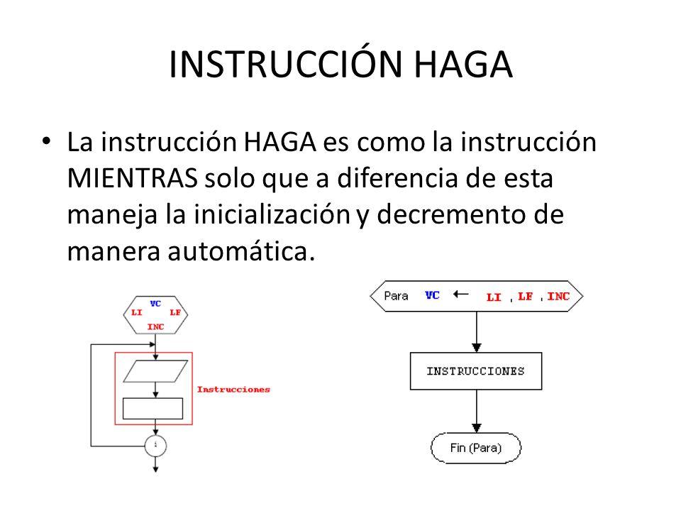 INSTRUCCIÓN HAGA