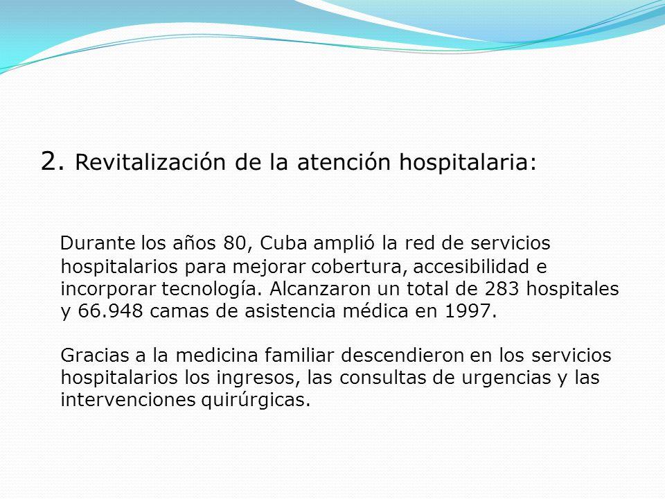 2. Revitalización de la atención hospitalaria: