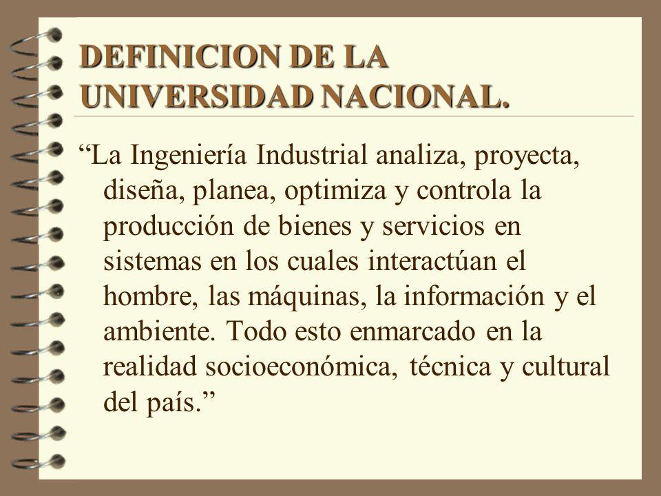 DEFINICION DE LA UNIVERSIDAD NACIONAL.