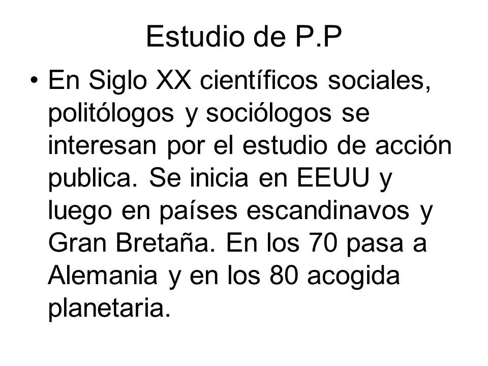 Estudio de P.P