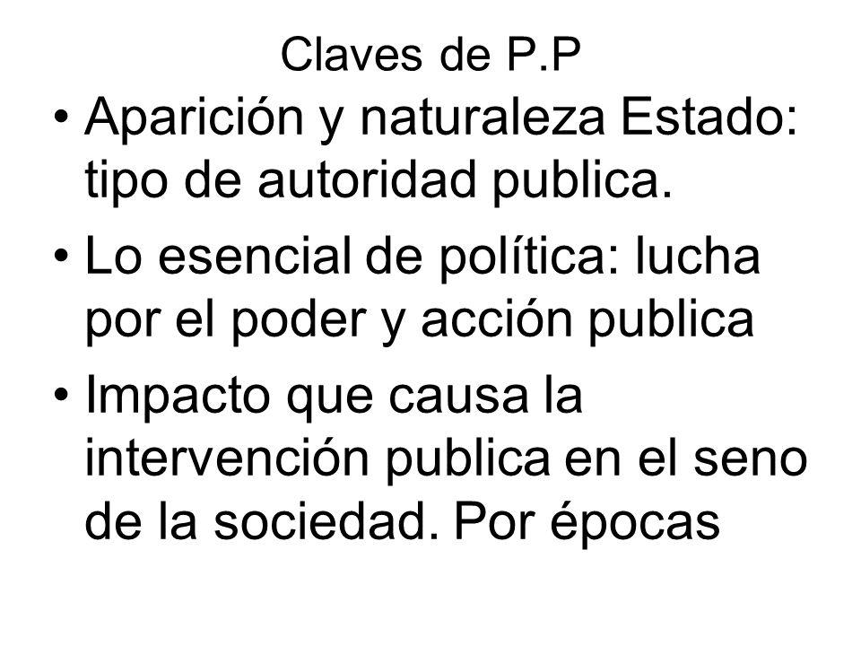 Aparición y naturaleza Estado: tipo de autoridad publica.