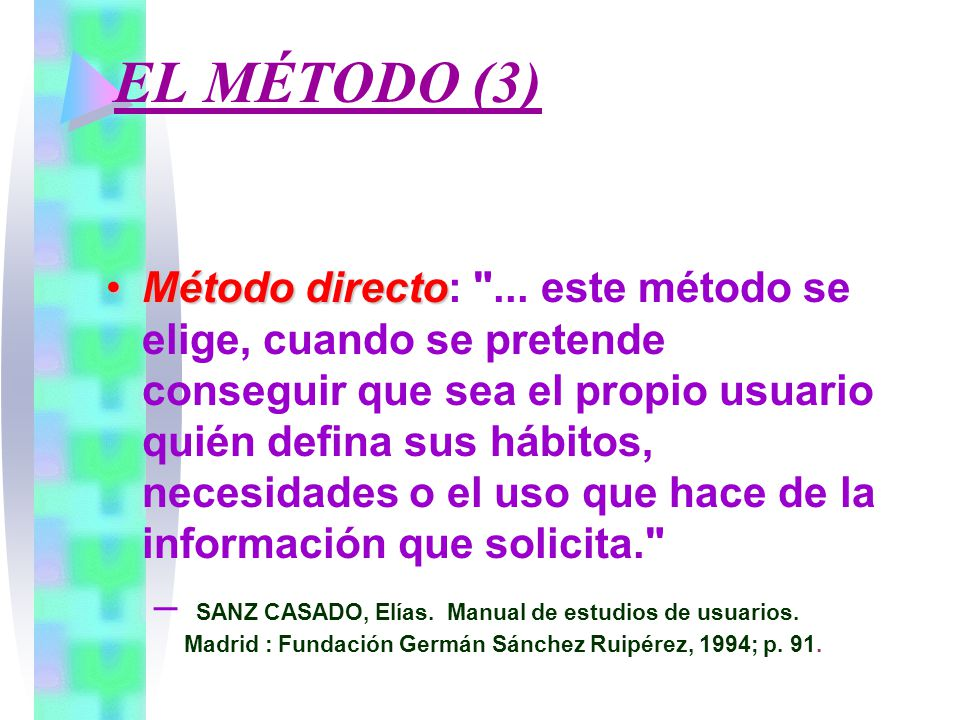 EL MÉTODO (3)