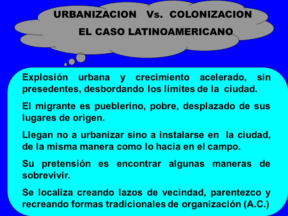 EL CASO LATINOAMERICANO